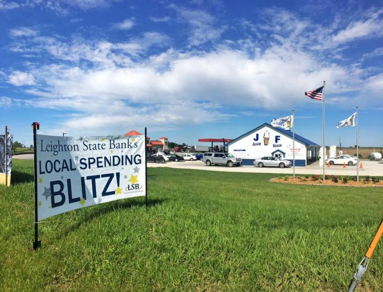 One of our Local Spending Blitzes was held at Jersey Freeze. I designed the banner for our Local Spending Blitzes