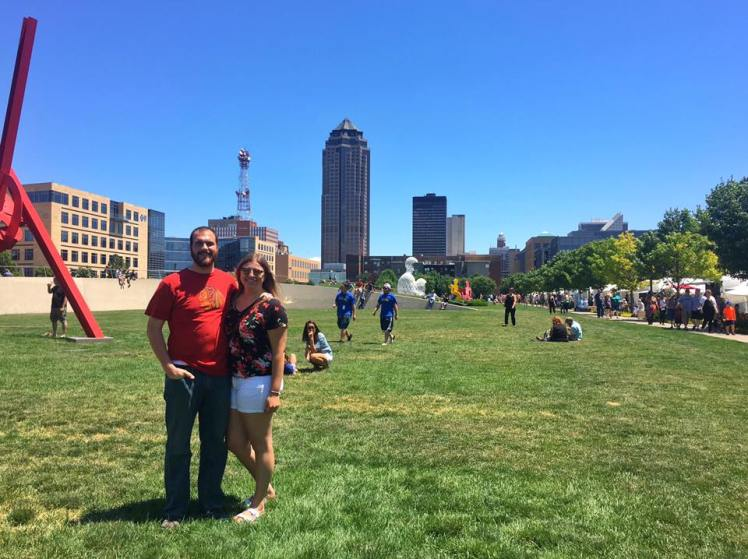 Ryan and I at the Des Moines Arts Festival