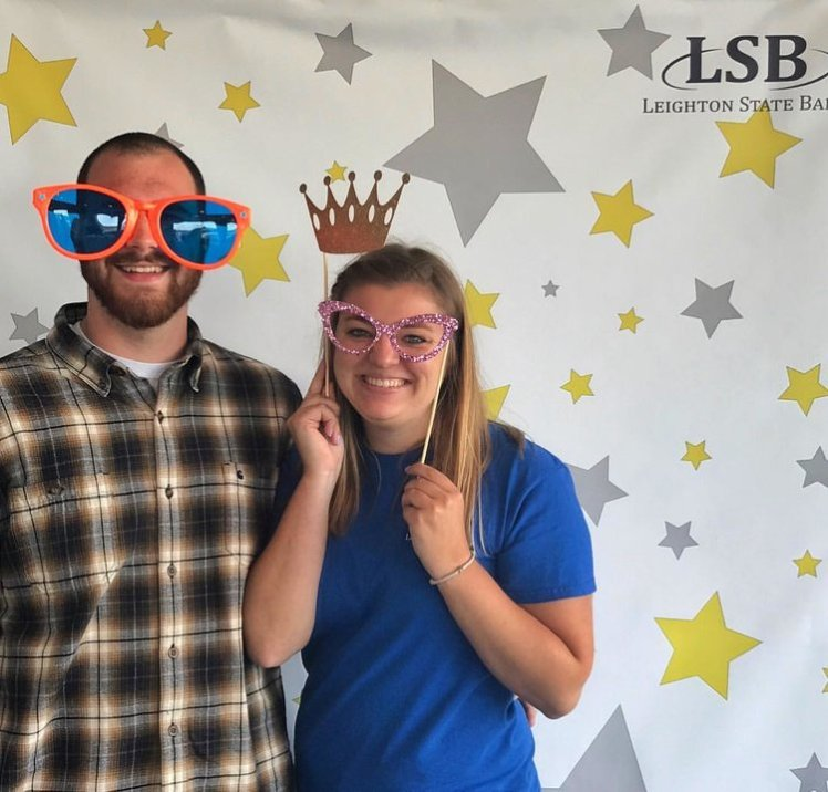 Ryan and I in the photobooth at a Local Spending Blitz